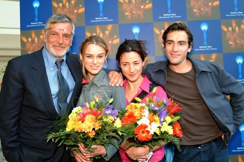 S Jiřím Bartoškou, Orlou Brady a Benem Chaplinem na 37.MFF Karlovy Vary